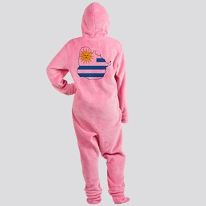 Map Of Uruguay Footed Pajamas