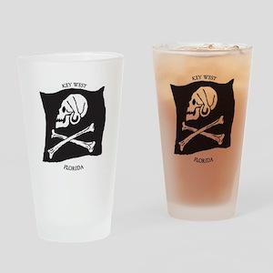 Key West Jolly Roger Drinking Glass