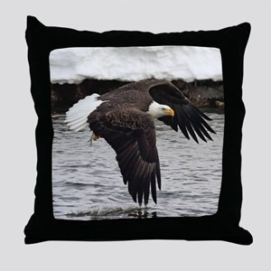 Eagle, Fish in Talons Throw Pillow