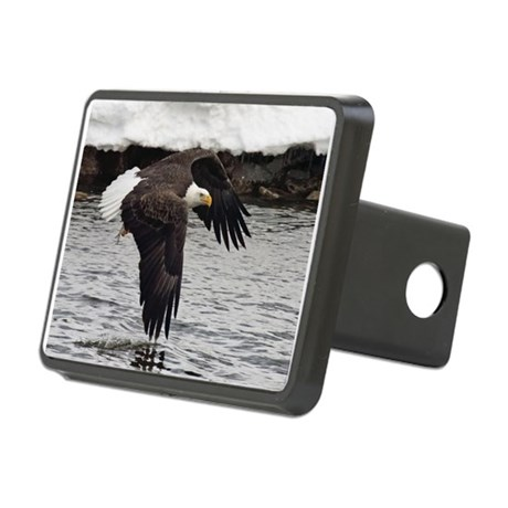 Eagle, Fish in Talons Rectangular Hitch Cover