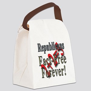 Republicans Fact Free Forever! Canvas Lunch Bag