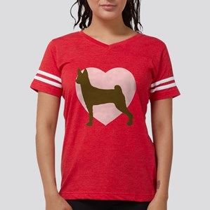 basenji-heart Womens Football Shirt