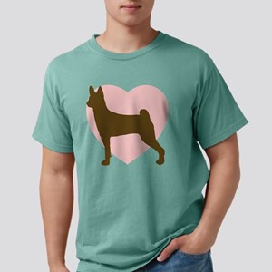 basenji-heart Mens Comfort Colors Shirt