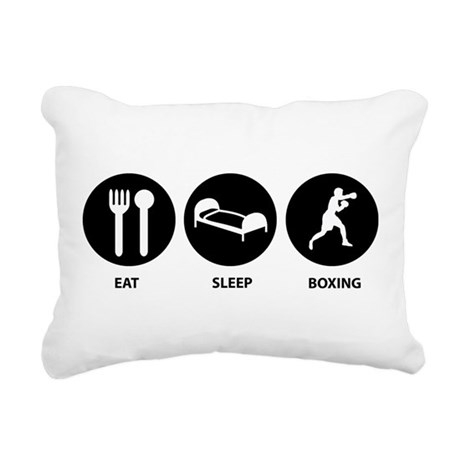 Eat Sleep Boxing Rectangular Canvas Pillow