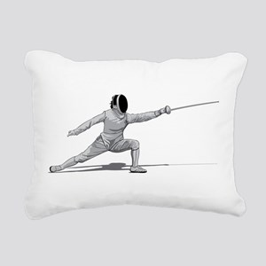 Fencing Rectangular Canvas Pillow