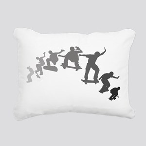 Skateboarding Rectangular Canvas Pillow
