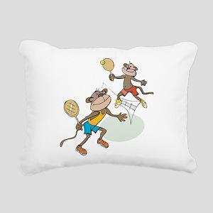 Monkey Tennis Rectangular Canvas Pillow