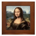 Mona Lisa Painting / Portrait Framed Tile