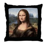Mona Lisa Painting / Portrait Throw Pillow