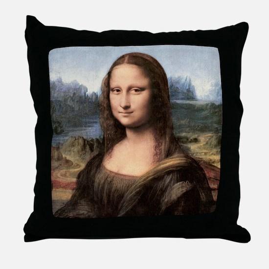 Mona Lisa Painting / Portrait Throw Pillow