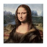 Mona Lisa Painting / Portrait Tile Coaster