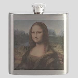 Mona Lisa Painting / Portrait Flask
