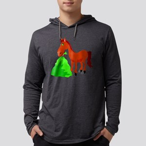 gvHorse334 Mens Hooded Shirt