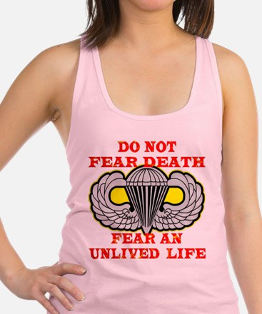 wht_Airborne_Do_Not_Fear_Death.png Racerback Tank