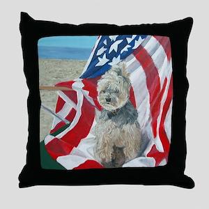 """Born in the USA"" Throw Pillow"