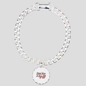 Livin' 40th Birthday Charm Bracelet, One Charm