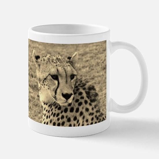 sepia scopey cheetah kenya collection Mug