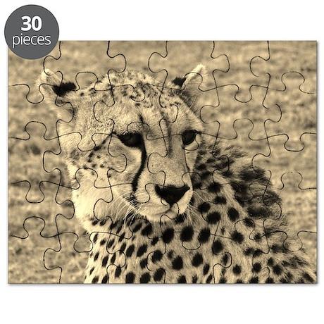 sepia scopey cheetah kenya collection Puzzle