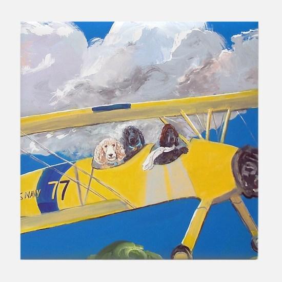 """Flight Crew"" Tile Coaster"