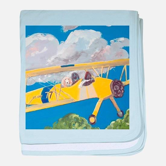 """""""Flight Crew"""" baby blanket"""