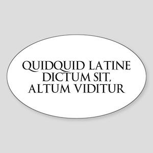 Latin Oval Sticker