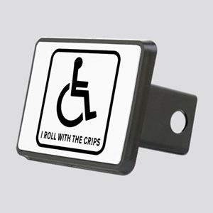 I Roll With the Crips Rectangular Hitch Cover