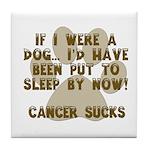 If Dog - Put to Sleep - Cancer Sucks Tile Coaster