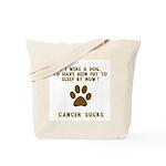 If Dog - Put to Sleep - Cancer Sucks Tote Bag