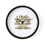 If Dog - Put to Sleep - Cancer Sucks Wall Clock