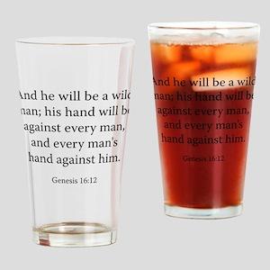 Genesis 16:12 Drinking Glass