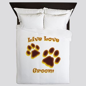 Live Love Groom Queen Duvet