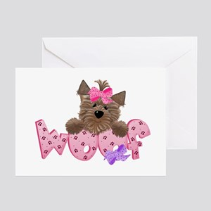 Yorkiegirl Woof Greeting Cards (Pk of 10)