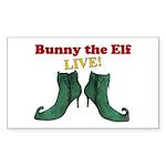 Bunny the Elf LIVE! Sticker (Rectangle 50 pk)