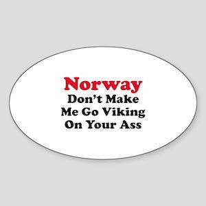 Norway Viking Sticker (Oval)