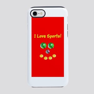 I Love Sports Balls Face 4Arti iPhone 7 Tough Case