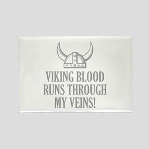 Viking Blood Runs Through My Veins! Rectangle Magn