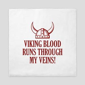 Viking Blood Runs Through My Veins! Queen Duvet
