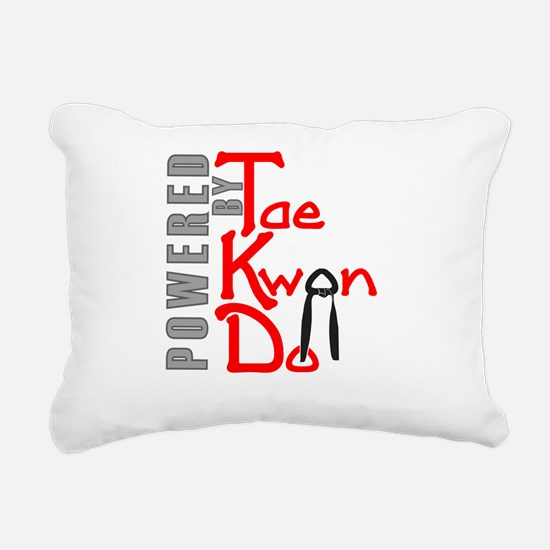 Powered by Tae Kwon Do Rectangular Canvas Pillow
