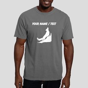 Wolf Silhouette (Custom) Mens Comfort Colors Shirt