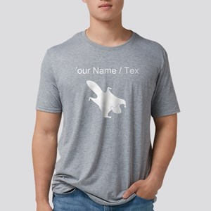Flying Squirrel Silhouette  Mens Tri-blend T-Shirt