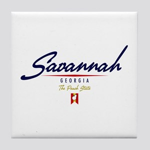 Savannah Script Tile Coaster