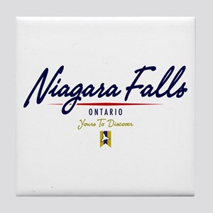 Niagara Falls Script Tile Coaster