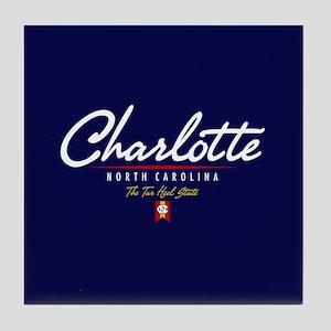 Charlotte Script Tile Coaster