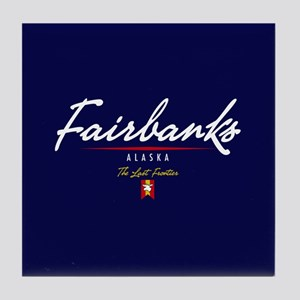 Fairbanks Script Tile Coaster