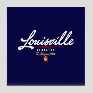 Louisville Script Tile Coaster