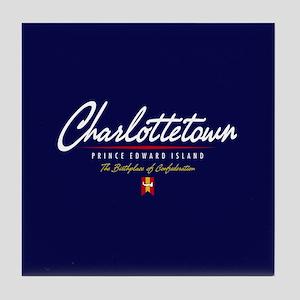 Charlottetown Script Tile Coaster