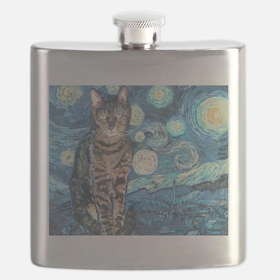 """Starry Night Life"" Flask"