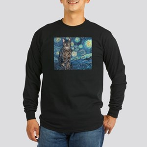 """Starry Night Life"" Long Sleeve Dark T-Shirt"