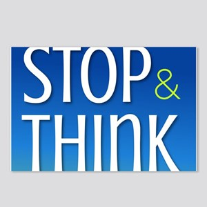 Stop Think Postcards (Package of 8)