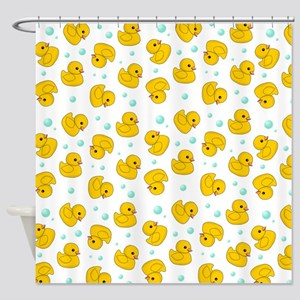 Rubber Ducky pattern Shower Curtain